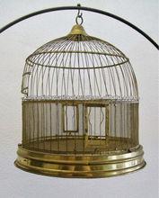 Antigüedades de latón jaula del pájaro, ronda de la jaula del pájaro, hecho a mano de la jaula del pájaro,
