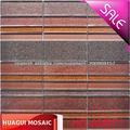 pared decorativos mosaico tira de material de vidrio de polvo de oro