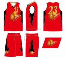 2015 Hot sale basketball short and shirt for kid /women free design
