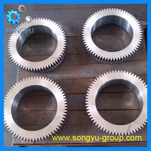 heavy forged carbon steel 45# gear ring for rotating ring