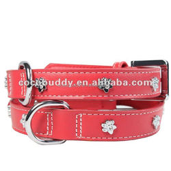 Metal rivets leather dog collar high quality fast delivery best service pet dog products factory