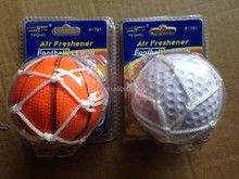 2015 Ball shape car air freshener for promotion and advertisement