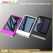 2015 New Arrival 10000mah solar power bank with LED camping light dual usb universal for mobile phones and tablets