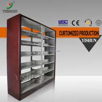 Wood shelves for books,economic bookcases,library equipment