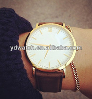 Hot new products for 2014 gold plated wrist watches for men
