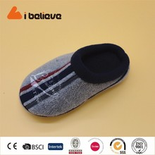 baby safety warm cotton slippers custom logo print kid shoe