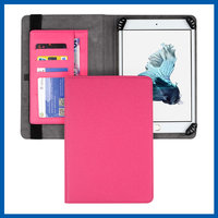 C&T Credit card holder stand pu leather folio magnetic folding cover for ipad mini