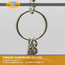 10 years manufacturer direct promotion reflective metal key ring