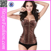 Hexinfashion Adjustable Steampunk Corsets with Zipper Wholesale