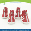 Soft Nylon Fabric pet dog rubber rain shoes mixed size and color