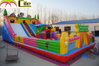 CILE Giant Bear Theme Inflatable Jumping Combo Moonwalk Air Playground for Kids