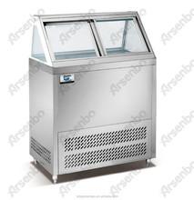 Curved Glass Door Commercial Freezer/Ice Cream Freezer /Ice Cream Freezer with CE