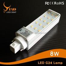 8w plc g24/gx24/e27 base type Led bulb light 40 pcs whosale price