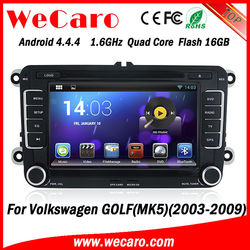 Wecaro android touch screen car radio for VW GOLF(MK5)(2003-2009) built-in Cabus