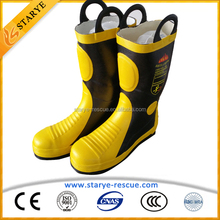 Steel Toe and Sole Flame Retardant Fire Fighter Fireman's Boots
