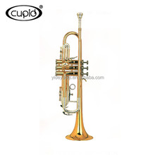 YTRU-301519 CUPID Professional Cheap Double color silver gold Trumpet