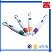Promotional retractable tip plastic four color ball pen