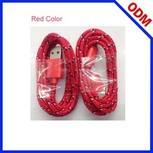 Mobile Phone Accessories Factory OEM Micro Braided USB Data Cable For Samsung