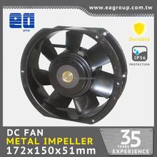 172x150x51mm 12v/24V/48V strong DC METAL cooling ceiling fan