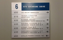 Aluminium wall signs for Airport, Hospital, Office building, hotel, bank, schools