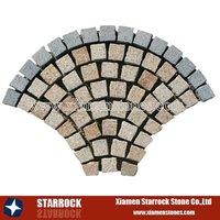 Fan cobble stone mat
