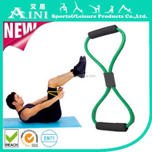 Household sports fitness equipment slimming multi-function of eight cable machine type o pull rope elastic emulsion men and wome