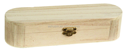 Hot sale natural solid wood customized wooden pencil packing box