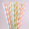 2015 High Quality Disposable Colorful Striped Polka dot Drinking Paper Straws Party Favors