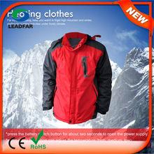 HJ08 7.4v Heated Brown leather jackets in china,men winter jackets,custom jacket