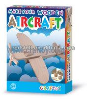 Art & Craft diy kit toy deisgn you own Wooden aircraft