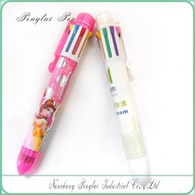 Hot Promotional Eight color plastic ballpen Branded Multi-color ballpen, 8 color ballpoint pen
