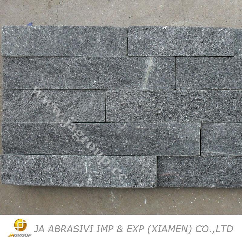Polished Stone Wall Cladding : Quartzite culture stone slate cladding china grey