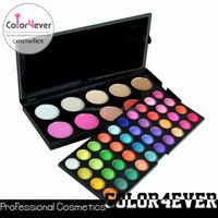 Xmas private lable 50 colour wholesale makeup Eyeshadow blusher cosmetic makeup Palette kryolan