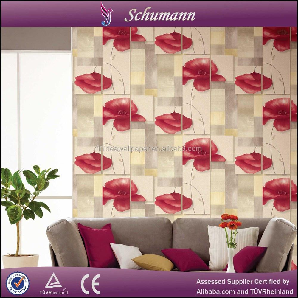Landelijke stijl en warm gevoel non- woven behang materiaal voor ...