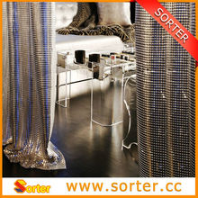 Refined Design metal Mequin Fabric Curtains Drapes