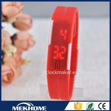 """""""wholesale Red LED gold plated wrist watch wrist watch for women """""""
