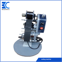 Hand press bag expiry date printing machine code stamping machine