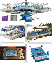 Manufacturer of 8 Colors 18 stations textile/t shirt/fabric/garment/knitting material printing machines for sale