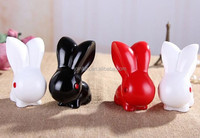 Wholesale pvc rabbit coin bank, large pvc plastic coin bank, cartoon design plastic coin bank