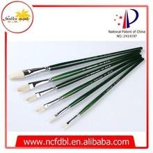 Practical&Popular Oil Painting Brush Type 305, Chungking Bristle Hair Wooden Handle