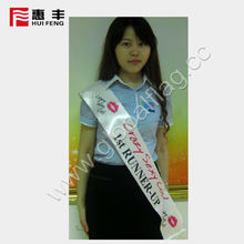 custom your logo sash for party,celebration