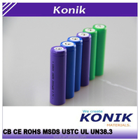 2015 Konik 18650 2200mah 3400mah 3.7v rechargeable NCR18650BF lithium ion battery