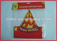 Birthday wrapping paper hat
