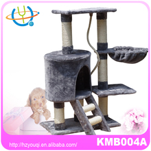 2015 top sell european style plush and sisal cheap cat tree