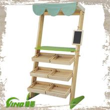 Factory Hot and Good Quality Wood Shelf Flooring Display Racks, Department Store Display Racks