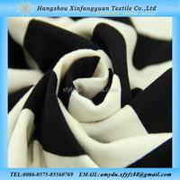 viscose spandex striped knit fabric