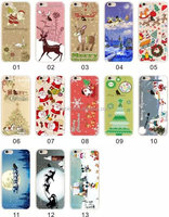 Promotion Gift Merry Christmas Phone Cover Ultra Thin Design Mobile Phone Case For iPhone 6