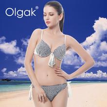 Olgak New Arrival Hot Sexy Cut Mesh Brazilian Bikini Swimwear
