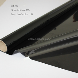 Black Window Tint Solar Films Car Film Anti-Scratch Membrane 152cmx30m car and building film