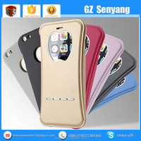 View Window PU Leather Case for iphone 6 Plus Flip Phone Cover